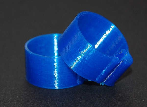 Båndring  Blå 21 mm (10 stk)