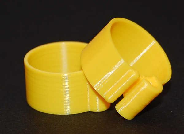 Båndring Gul 16 mm (10 stk)