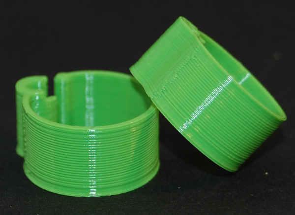 Båndring Grøn 16 mm (10 stk.)
