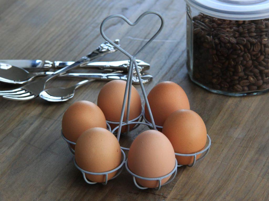 Æggeholder til 6 æg