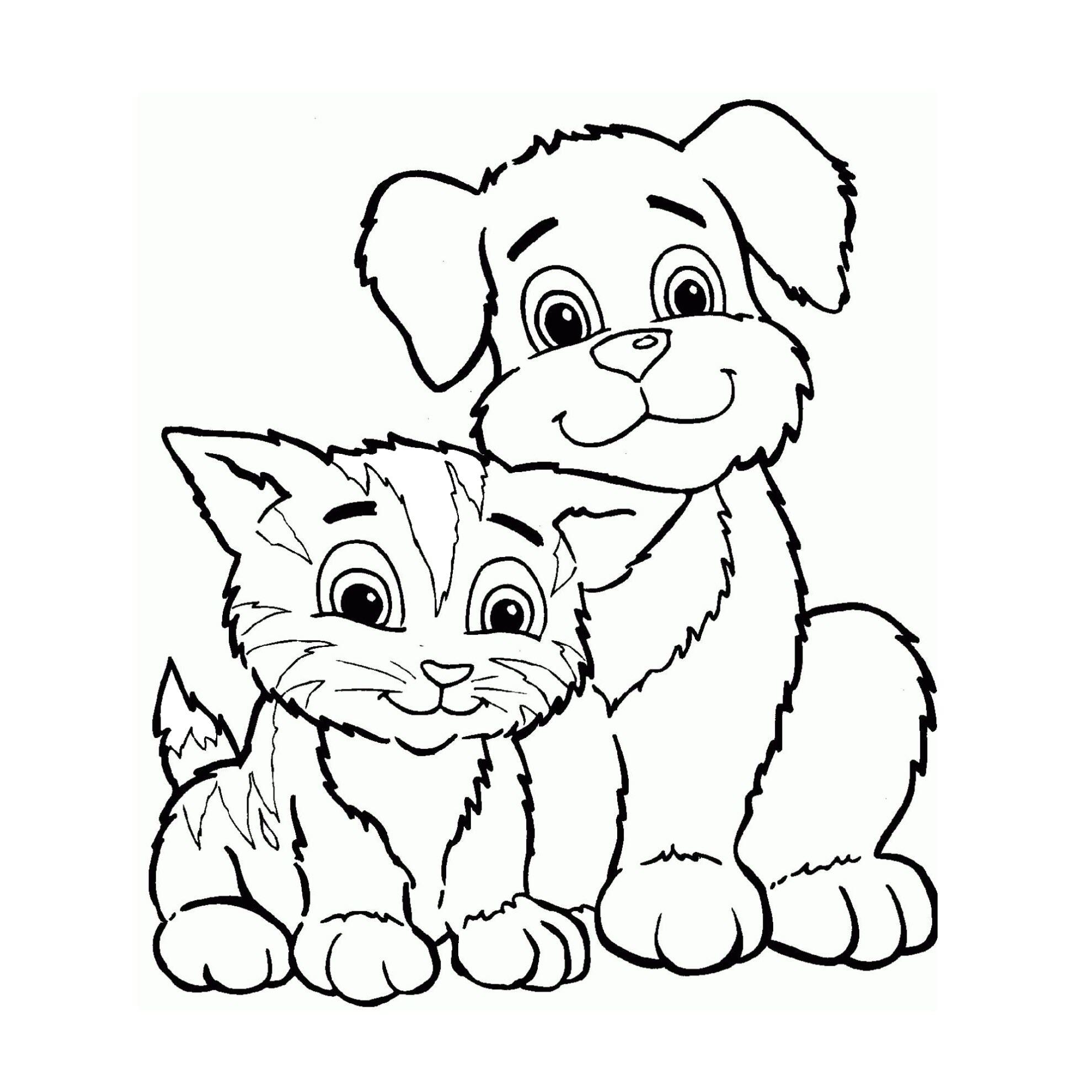 гостиной рисунок про кошек и собак подозревают том